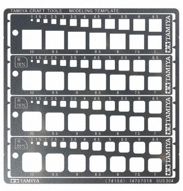 モデリングテンプレート (正方形 1-10mm) タミヤ, TAM74156, by タミヤ