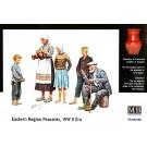 1/35 東欧の子供3兄弟と老夫婦-男女5体, , by マスターボックス