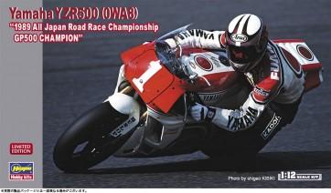 """1/12 ヤマハ YZR500(0WA8)""""1989 全日本ロードレース選手権GP500 チャンピオン"""" ハセガワ, HAS17386, by ハセガワ"""