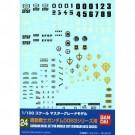 1/100 ガンダムデカール24 MG ガンダム0083シリーズ用, , by バンダイ