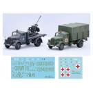 1/72 ミリタリーシリーズ ドイツ軍 3tトラック(迷彩塗装/救護車/対空機銃搭載) フジミ, , by フジミ