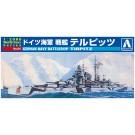 1/2000 ワールドネイビー 4 ドイツ海軍 戦艦 テルピッツ   アオシマ, , by アオシマ