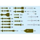 1/144 航空武装シリーズ 現用航空機用 ウェポンセット2 誘導爆弾 & ミサイル '70~ プラッツ, PLZ78084, by プラッツ
