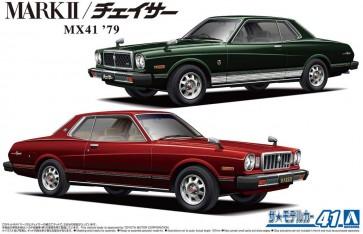 1/24 ザ・モデルカー No.41 トヨタ MX41 マーク II/チェイサー 1979 アオシマ, AOS58602, by アオシマ
