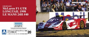 1/24 マクラーレン F1 GTR ロングテイル 1998 ルマン24時間 #40, AOS14189, by アオシマ