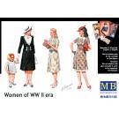 1/35 欧州民間女性フィギア第二次大戦期-女性3体+女児1体, , by マスターボックス