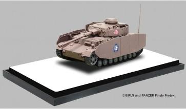1/72 ガールズ&パンツァー 最終章 てのひら戦車道コレクション IV号戦車H型(D型改)雪原での戦いです! プラッツ, PLZ78251, by プラッツ