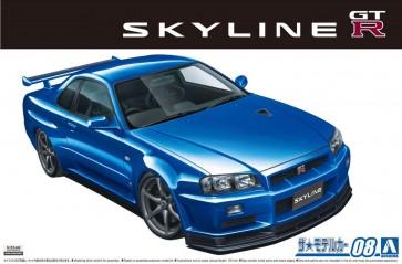1/24 ザ・モデルカー No.8 ニッサン BNR34 スカイラインGT-R V-spec II 2002 アオシマ, AOS58589, by アオシマ