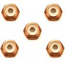 ミニ四駆 グレードアップパーツ 2mm アルミロックナット (オレンジ 5個) [ミニ四駆特別企画] タミヤ, TAM55565, by タミヤ