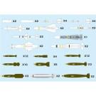 1/144 航空武装シリーズ 現用航空機用 ウェポンセット1 通常爆弾 & ミサイル '50~ プラッツ, PLZ78091, by プラッツ